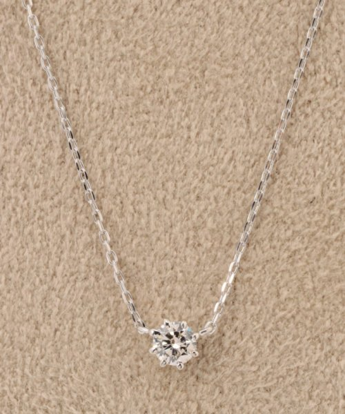 DECOUVERTE(デクーヴェルト)/18KWG 0.1ct ダイヤモンド ネックレス H&C/16110895000610
