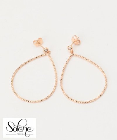 【SOLENE】Teardrop Circle Pierce ピアス