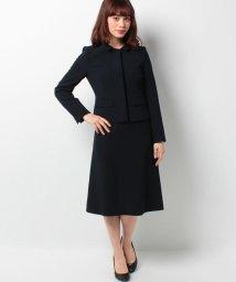BLACK GALLERY/【お受験スーツ】ウォッシャブル対応ステンカラージャケットお受験アンサンブル/500098416