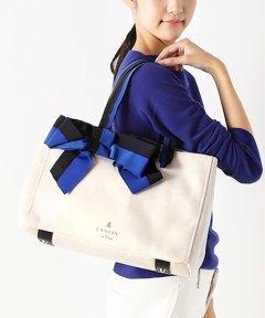 <マガシーク>【LANVIN en Bleu(BAG)(ランバンオンブルー(バッグ))】マリアンヌ リボントートバッグ