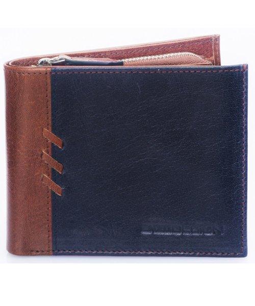 ADC(ADC)/ENZODESIGN アニリンバッファローレザーフリム二つ折り財布/6B956