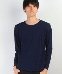 JNSJNM/【BLUE STANDARD】インディゴ無地クルーネックTシャツ/500107613