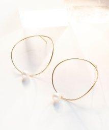 jupiter/curvy circle pearlピアス/500057500