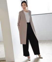 marjour/NO−COLLAR LONG JACKET/500157842