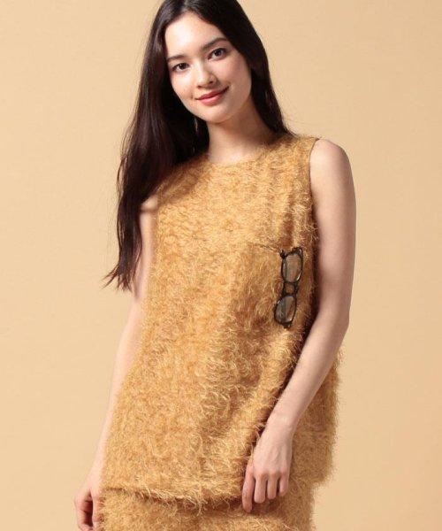 beautiful people(ビューティフルピープル)/【セットアップ対応商品】cut fur cloth top/1715110001