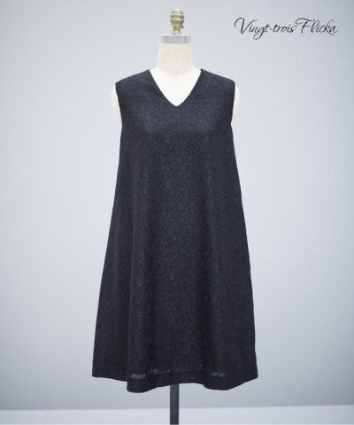 【Vingt-trois Flicka】Bonding Lace dress ワ