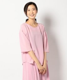 JIYU-KU /【WEB限定カラー有・洗える】ウォッシャブルシルク ブラウス/500160022