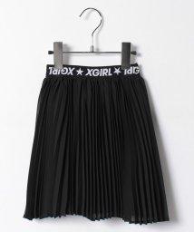 X-girl Stages/ウエストロゴプリーツスカート/500160695