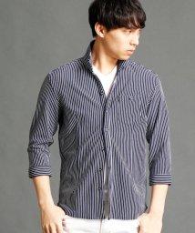 NICOLE CLUB FOR MEN/ストライプ柄7分袖シャツ/500159983