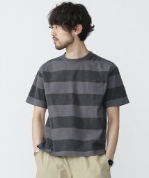 nano・universe/ピグメントボーダーTシャツS/S/500202280