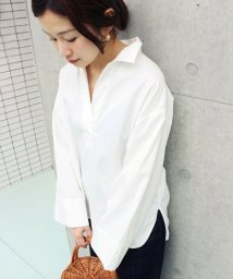 IENA/スキッパーワイドスリーブシャツ◆/500219724