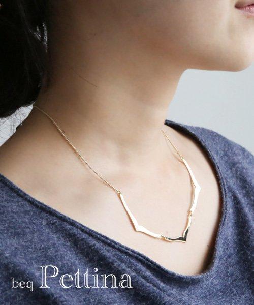 ホエールテイルゴールドネックレス/beq Pettina [Made In Japan]