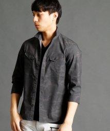 HIDEAWAYS NICOLE/7分袖イタリアンカラーシャツ/500186011