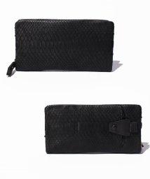 gino marina luxe/パイソン携帯電話ポケット付財布/500203483