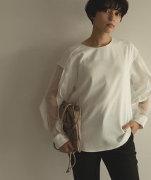 marjour/SEE THROUGH SLEEVE BLOUSE/500242022