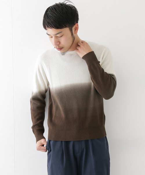 URBAN RESEARCH OUTLET(アーバンリサーチ アウトレット)/【WAREHOUSE】綿レーヨンバイカラーニット/WH7412M015