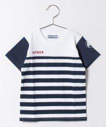 crocs(KIDS WEAR)/ボーダープリントVネックTシャツ/500219289