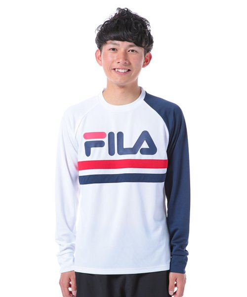 FILA(フィラ)/ロゴプリント長袖カットソー/417319