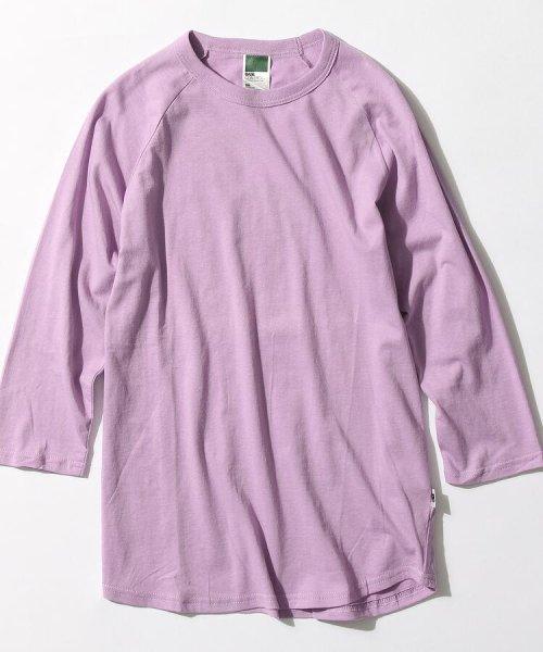 BASECONTROL(ベースコントロール)/inner light raglan 3/4 t shirt/99990922311044