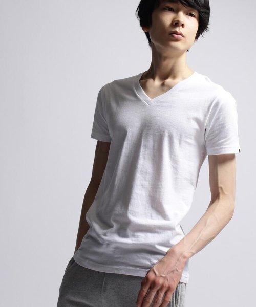 BASECONTROL(ベースコントロール)/inner light v neck sleeve/99990922311047