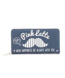 PINK-latte/マスタッシュプリント長財布/500280451