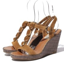 INTER-CHAUSSURES IMPORT/【ABOVE AND BEYOND】スエードビジューサンダル/500277361