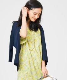 JIYU-KU /【WEB限定カラー有・洗える】コットンアセテート カーディガン/500300220