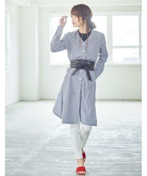 Re:EDIT(リエディ)/マルチウェイノーカラーシャツトップス/121801