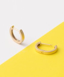 jupiter/matte gold straight hoopピアス/500085131
