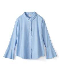 haco!/これ1枚で女っぽさを手に入れる なめらか素材の袖フレアーシャツ/500286216
