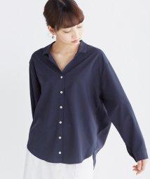 haco!/女らしくてかっこいい スキッパー&抜き衿のとろみシャツ/500286360