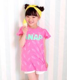 ANAP KIDS/ソフトクリーム柄袖フレアワンピース/500309339