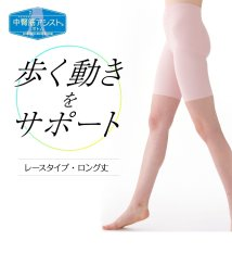 LECIEN/正しい姿勢 軽やかな歩行 中臀筋アシストボトム・レースロング丈(ソフトガードル)/500300425
