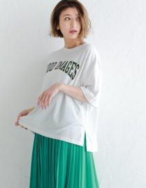 Re:EDIT/カジュアルプリントビックシルエットTシャツ/500320009