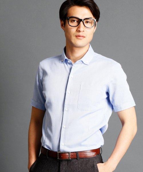 MONSIEUR NICOLE(ムッシュニコル)/波紋ストライプ柄ボタンダウンシャツ/7262-8805