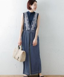 URBAN RESEARCH Sonny Label/【TRILL掲載】クロス刺繍デニムサロペット/500327460