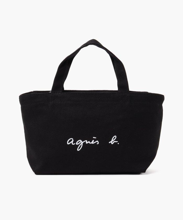 アニエスベー ボヤージュ GO03-02 ロゴトートバッグ レディース ブラック F 【agnes b. Voyage】