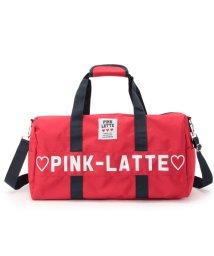 PINK-latte/ビッグロゴスポーツボストンショルダー/500330250