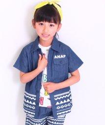 ANAP KIDS/【セットアップ対応商品】デニムダンガリープリントシャツ/500325103