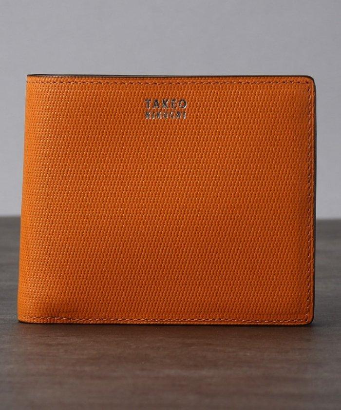 タケオキクチ ミニメッシュ2つ折り財布 [ メンズ 財布 サイフ 定番 二つ折り ギフト プレゼント ] メンズ オレンジ(567) 00 【TAKEO KIKUCHI】