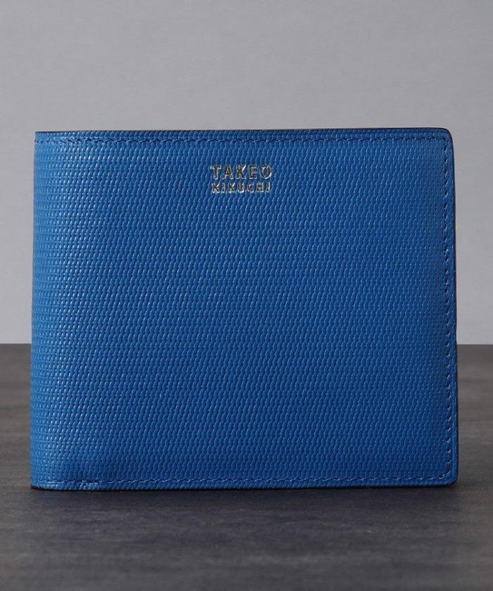 タケオキクチ ミニメッシュ2つ折り財布 [ メンズ 財布 サイフ 定番 二つ折り ギフト プレゼント ] メンズ ブルー(591) 00 【TAKEO KIKUCHI】