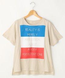 Ray Cassin /国旗モチーフロゴTシャツ/500333975