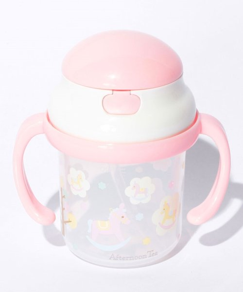 Afternoon Tea LIVING(アフタヌーンティー・リビング)/木馬柄ストローマグカップ(ベビー用)/DI1857972