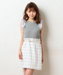 MIIA/ベルト付トラペラーズスカート/500327753