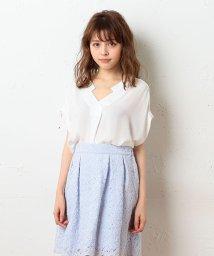 MIIA/ぬき衿タックブラウス/500327754
