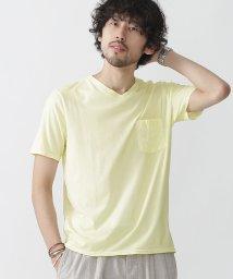 nano・universe///スプレー加工VネックTシャツ/500334836