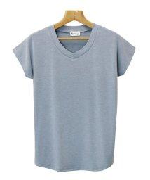 and Me.../Tシャツ レディース 半袖 Vネック 無地 ゆるてろ素材 UVカット カットソー/500343851