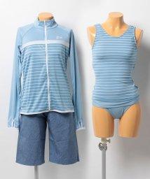 VacaSta Swimwear/【FILA】杢ボーダータンキニラッシュ4点セット水着/500331876
