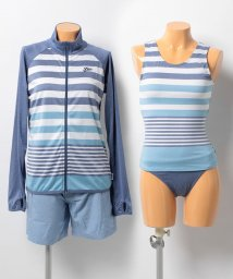 VacaSta Swimwear/【FILA】パネルボーダータンキニ4点セット/500331877