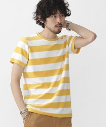 nano・universe///パイルボーダーTシャツ/500341601